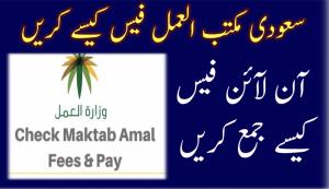 Check Saudi Maktabul Amal Fee 2021